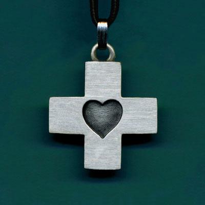 Small Heart Cross