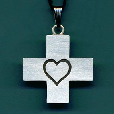 Large Heart Cross