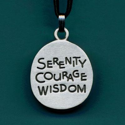 Pewter Serenity Courage Wisdom Pendant