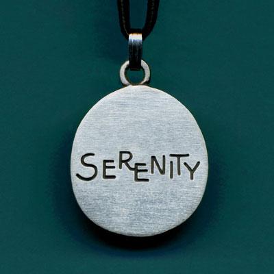 Pewter Serenity  Pendant