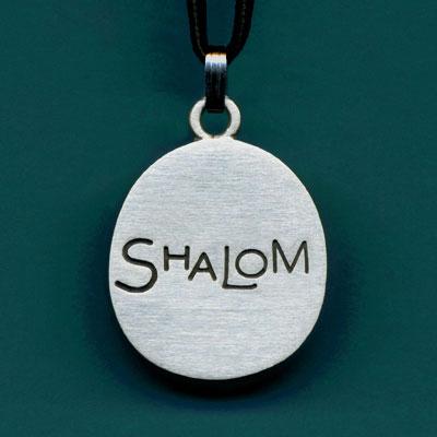 Pewter Shalom Pendant