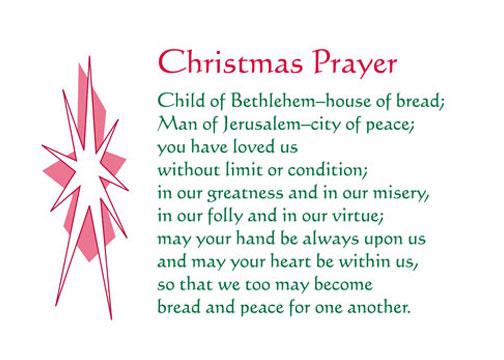 christmas prayer note card